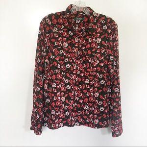 Lauren Ralph Lauren button down shirt floral red